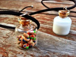 Candy Cookies And Milk Necklace Set by SteamPixy