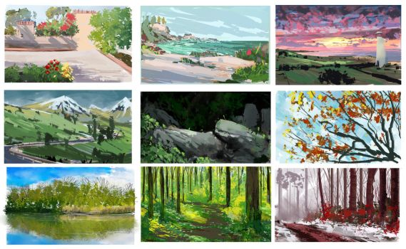 Playing with colors Landscapes by theWinkWonk