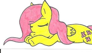 Sleeping Fluttershy by cmara