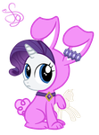 Rarity Rabbit by KristieSparcle