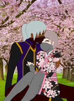 Together Under The Cherry Blossoms by blackblade94