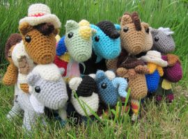 Chibi Dr Whooves Collection by NerdyKnitterDesigns