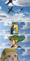 Link and Hylia, The Legends of Zelda by Ilora24