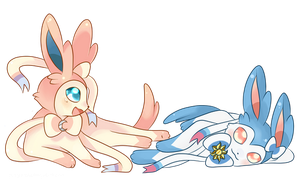 COMMISSION: Sylveons by SeviYummy