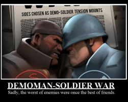 Demoman VS Soldier by Selecthumor