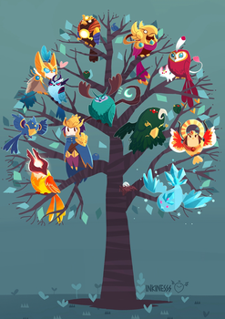 MOBA Birds by inkinesss