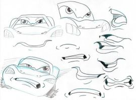 Lightning McQueen roughs by kanderson137