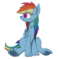 Lycan Rainbow Dash -Rough- by Muffinsforever