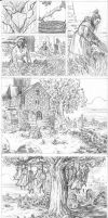 Dark Ages pages 7-13 pencils by klarens