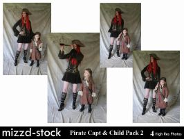 Pirate Captain and Child Pack2 by mizzd-stock