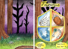 Fauniums portfolio covers by CandySkitty