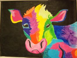 Rainbow Cow Collaberation by shmad380
