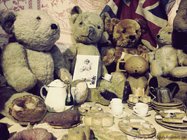 Teddies for Tea by MiseryAndMelody