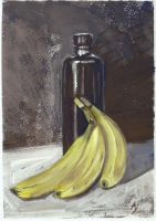 Bananas And Bottle by h-i-l-e-x