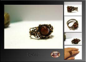Rita- wire wrapped ring by mea00