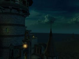 Fantasy castle background 8 by indigodeep