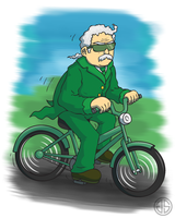 Mr. Green goes cycling by AdventureIslands