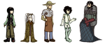 Original characters  in Deponia style by MomimiED