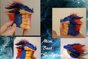 Mini dragon bust sculpture by yamiyo
