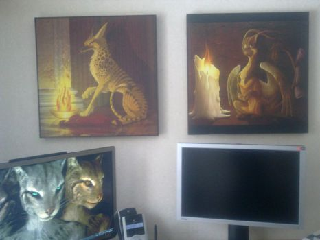 Framed gryphon print by StarGriffin
