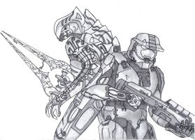 The Arbiter and Master Chief by amakiirdragon