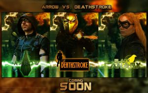 Arrow vs. Deathstroke Triptychon by Joran-Belar