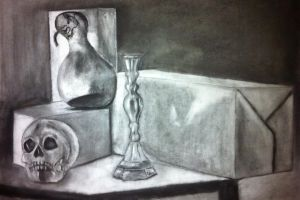 Drawing II - Skull, Candlestick, Gourd by munjey86