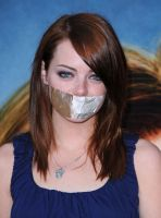 Emma Stone tape gagged by The-email