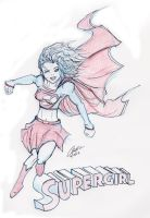 Supergirl -Sketch- by cryptster