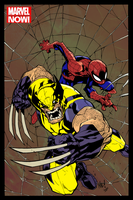 Spiderman and Wolverine Colour work by adambn