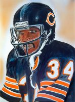Walter Payton painting by dx