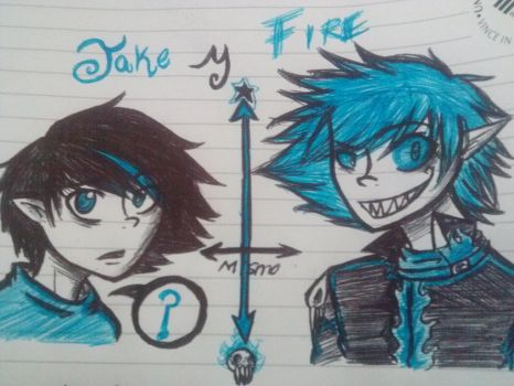 jake y fire :D by MaLeLo10