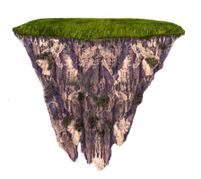 Floating Terrain Mountain 01 png and jpeg by MattiaMc