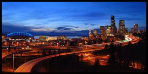 Seattle Sunset by 32tsunami