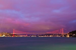 Bosphorus Bridge at night by Masisus
