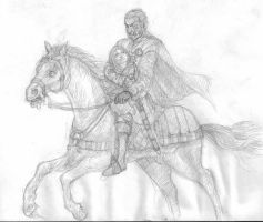 The Hound and Arya by Bodach