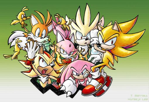 Collab - Super Sonic Warriors by kureejiilea