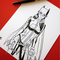 Batgirl Sketch 3 by JustinCoffee