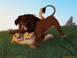 "Remake- Kovu ""killing"" Kiara by Dalamar89"