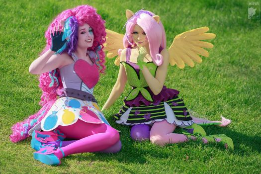 Pinkie and Flutty by Ryoko-demon