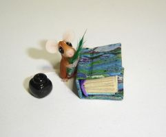 Mouse and book 1 by Fairiesworkshop
