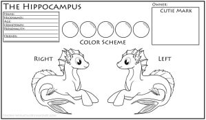 The Hippocampus: Character Ref Coloring Sheet by Naeomi