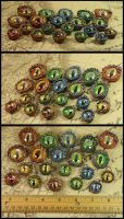 Dragons' Eyes Pendants by CatharsisJB