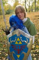Navi behind Hyrule Shield by CosplayMeuw