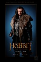 The Hobbit Thorin fan character poster by crqsf