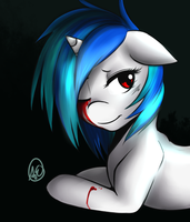 Vinyl Scratch Vent Art by spittfireart