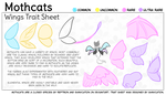 Mothcats: Wings Trait Sheet by ShinyCation