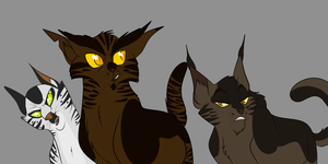Longtail, Tigerclaw and Darkstripe by Wolf-Chalk