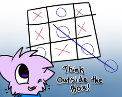 Outside the box by Caramelcat123