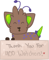 Thanks for 400 Watchers! by bubbIies